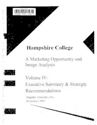 Hampshire College: a Marketing Opportunity and Image Analysis