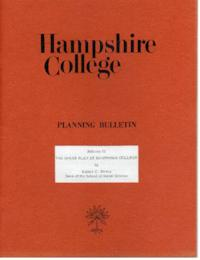 Hampshire College Planning Bulletin #2, The House Plan at Hampshire College