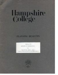Hampshire College Planning Bulletin #10, Arches of Knowledge