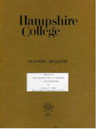 Hampshire College Planning Bulletin #6, The Proper Study of Mankind -- Reconsidered