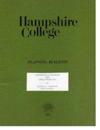 Hampshire College Planning Bulletin, Corporate Citizenship and Urban Problems