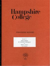 Hampshire College Progress Report #1, Employment by Faculty Contract