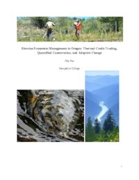Riverine Ecosystem Management in Oregon: Thermal Credit Trading, Quantified Conservation, and Adaptive Change