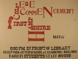 Hampshire College Commencement Poster - May 1971