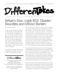Britain's Man-made BSE Disaster: Boundless and Without Borders