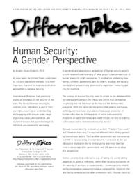 Human Security: A Gender Perspective