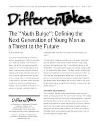 "The ""Youth Bulge"": Defining the Next Generation of Young Men as a Threat to the Future"