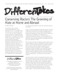 Conserving Racism: The Greening of Hate at Home and Abroad