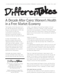 A Decade After Cairo: Women's Health in a Free Market Economy