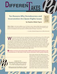 Ten Reasons Why Homelessness and Incarceration are Queer Rights Issues