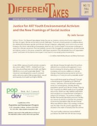 Justice for All? Youth Environmental Activism and the New Framings of Social Justice