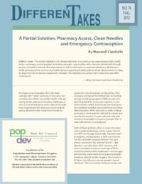 A Partial Solution: Pharmacy Access, Clean Needles and Emergency Contraception