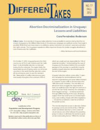 Abortion Decriminalization in Uruguay: Lessons and Liabilities