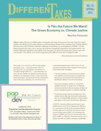 Is This the Future We Want? The Green Economy vs. Climate Justice