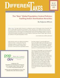 "The ""New"" Global Population Control Policies: Fuelling India's Sterilization Atrocities"