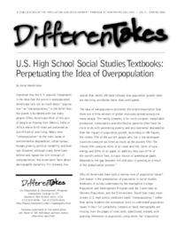 U.S. High School Social Studies Textbooks: Perpetuating the Idea of Overpopulation