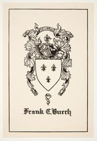 Family crest for Frank E. Burch, by Cleora Clark Wheeler