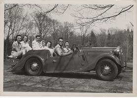 Students take a drive, ca. 1940s