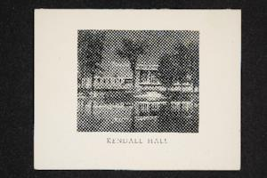 New Year's greeting from the Mount Holyoke Alumnae Association to alumnae, mentioning the recently built Kendall Hall