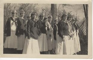 Students ready for Armistice Parade in Holyoke, Massachusetts, November 12, 1918