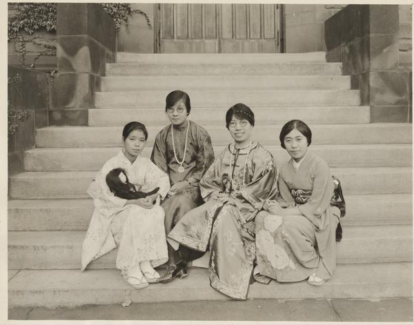 International Students in Traditional Clothing