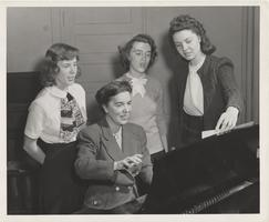 Choir Students Practicing at the Piano, 1947