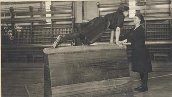 Two Students in a Gymnastics Class, 1911