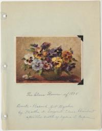 Book-Record, put together by Martha A. Sargent, Class President after the death of Lydia S. Capen (Lydia Sanderson, Class of 1895)