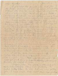 Letter from Eleanor Henderson to Caroline Henderson, circa 1930 - 1939