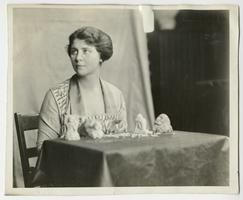 Anne Hershey, Class of 1922, carving sculptures from Ivory soap