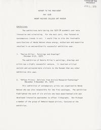 Report to the President, May 1978, Mount Holyoke College Art Museum