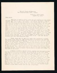 "Letter to ""Girls"" (Mount Holyoke College Students) from Alice Browne Frame, Tungchou, North China, August 31, 1910"