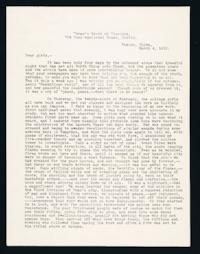 "Letter to ""Girls"" (Mount Holyoke College Students) from Alice Browne Frame, Peking, China, March 4, 1912"