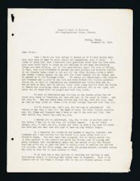 "Letter to ""Girls"" (Mount Holyoke College Students) from Alice Browne Frame, Peking, China, December 29, 1918"
