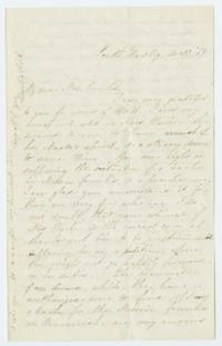 Letter from Fidelia Fiske '42 to Mrs. Cowles (Eunice Caldwell Cowles)