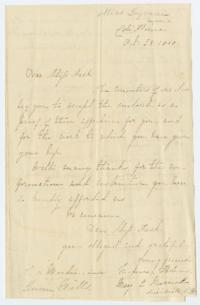 Letter from class of young women in Miss H. W. Lyman's School to Fidelia Fiske '42