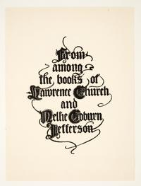 From Among the Books of Lawrence Church and Nellie Coburn Jefferson, by Cleora Clark Wheeler