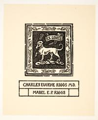 Ex Libris Charles Eugene Riggs M.D. Mabel E.P. Riggs, by Cleora Clark Wheeler
