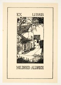 Ex Libris Mildred Aldrich, by Cleora Clark Wheeler