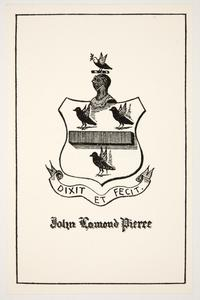Family crest for John Lamond Pierce, by Cleora Clark Wheeler
