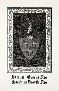 Family crest for Samuel Greene Rea and Josephine Dearth Rea, by Cleora Clark Wheeler