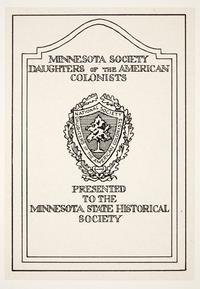 Minnesota Society Daughters of the American Colonists, by Cleora Clark Wheeler