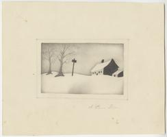 A Snow Storm, drawn by Lucy Goodale, Class of 1841