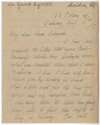 Letter from Mrs. H. B. Allen (Margaret Eddy Ferguson), sister of Abbie Park Ferguson, to Anna C. Edwards, Class of 1859