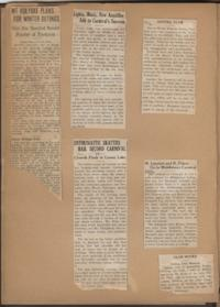 Mount Holyoke Outing Club scrapbook, with articles and pictures reflecting activities and events