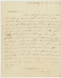 Letter from Mary Lyon to brothers Charles and George Merriam, printers in Springfield