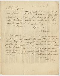 Letter from Amos Eaton to Mary Lyon