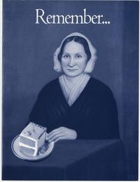 """Remember...Happy Birthday Mary Lyon!  Giving is a piece of cake,"" brochure for the Alumnae Fund on Mary Lyon's 200th birthday"