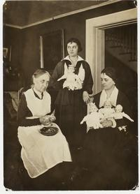 """Miss Rebecca Smith and her Mary Lyon dolls,"" photograph"