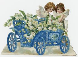 Cherubs in a car, front and open views